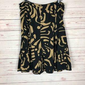 Josephine Chaus Print Trumpet Skirt Size 12